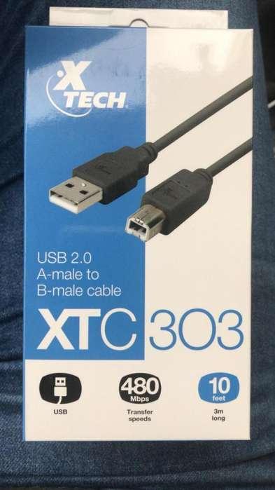 Cable para conectar <strong>impresora</strong> a PC etc.