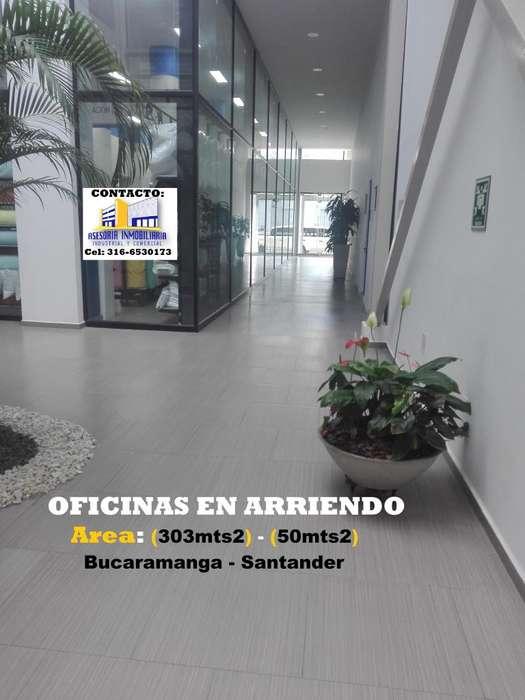 ARRIENDO OFICINAS NUEVAS BUCARAMANGA, CENTRO EMPRESARIAL Áreas: 1. 303 m2 – 2. 60 m2