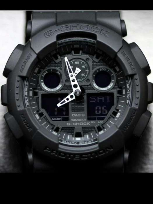 Reloj G Shock GA110 NEGRO MATE SPORT ELEGANTE ACUATICO LUZ LED