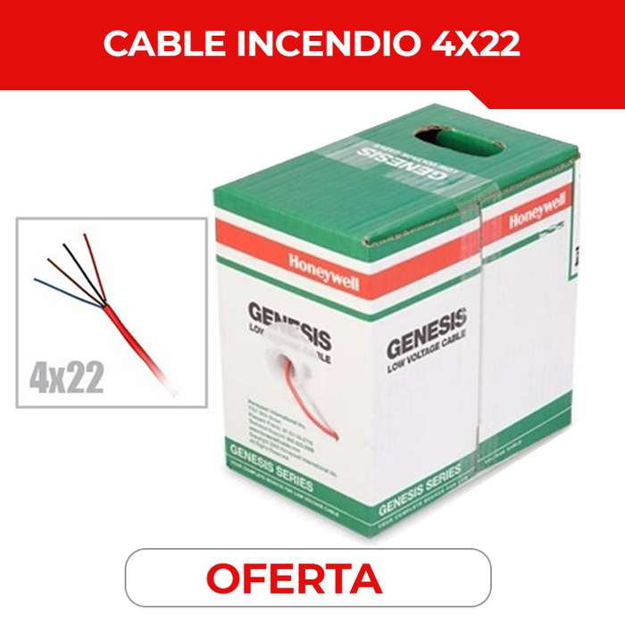 CABLE DE INCENDIO. HONEYWELL. SOLIDO 4X22. BOMBEROS. CABLE 4X22. QUITO. GUAYAQUIL