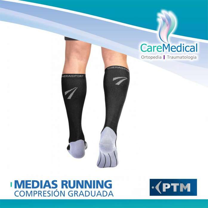 Medias Running de Compresión Graduada 1520 mm/Hg PTM TheraSport Ortopedia Care Medical