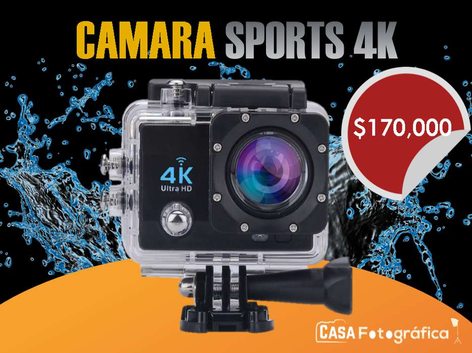 CAMARA 4K SPORTS CAM WIFI ULTRA HD 16.0M ACTION CAM