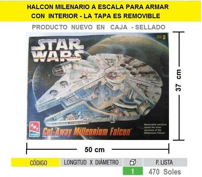 NAVE STAR WARS MAQUETA MODELISMO HALCON MILENARIO