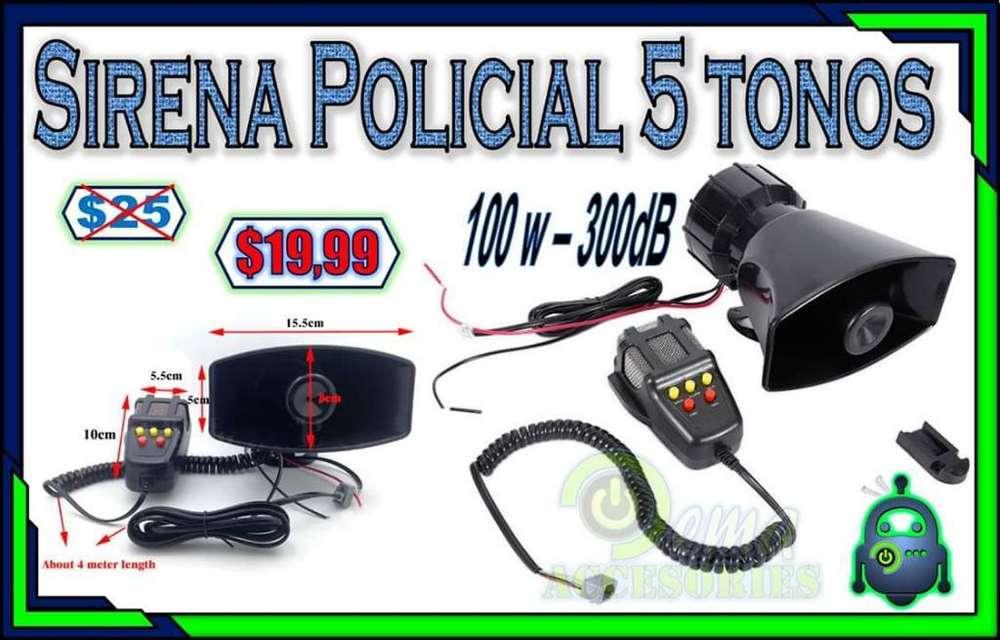 Sirena Policial 5 Tonos