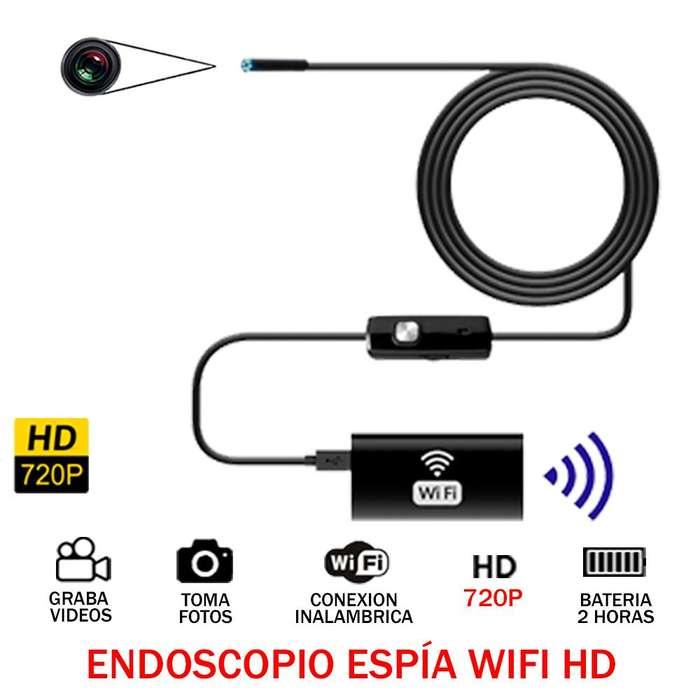 Camara Endoscopio Espia Hd 720p Wifi 10m iPhone Android