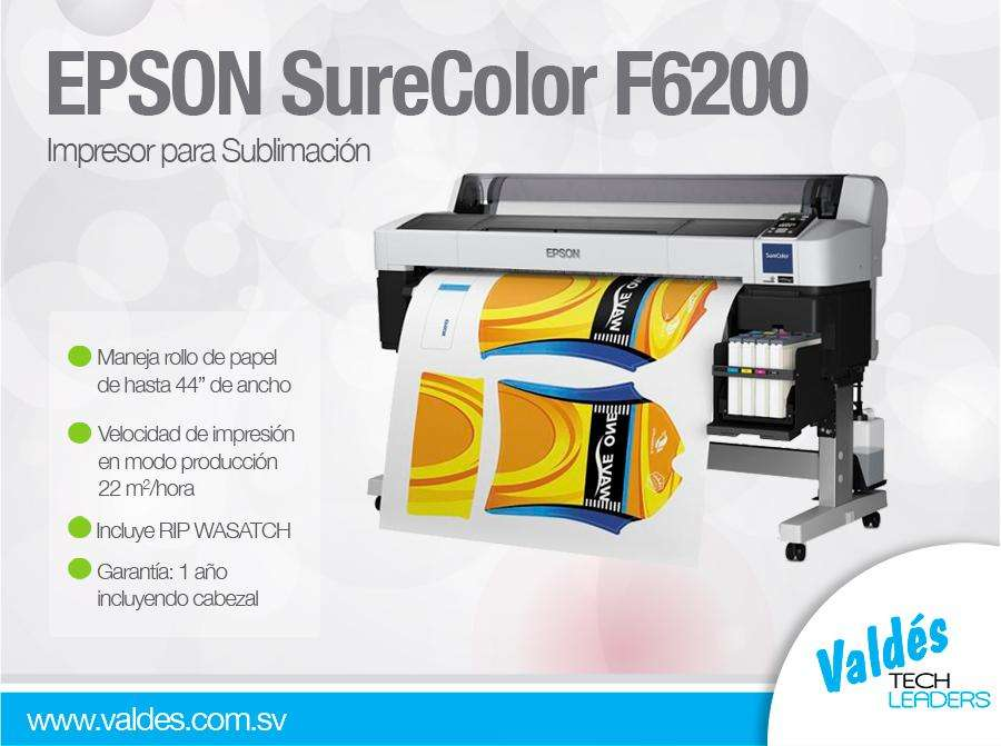 Plotter Epson Surecolor F6200 para sublimacion