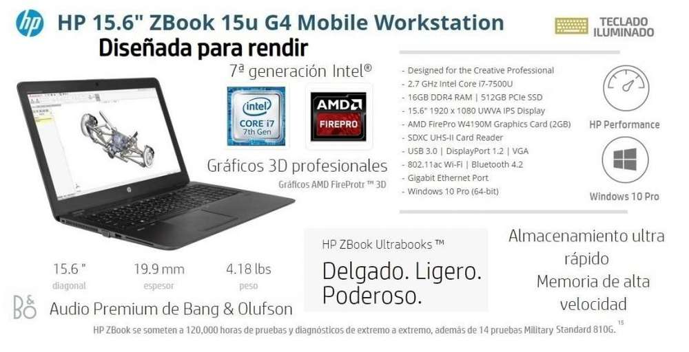 HP Zbook G4 WorkStation Portátil
