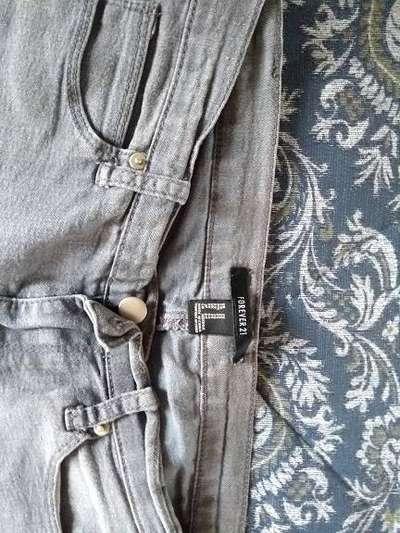 Pantalon Jean Forever 21 Elastizado T 34 Gris Ropa Y Calzado 1105143132