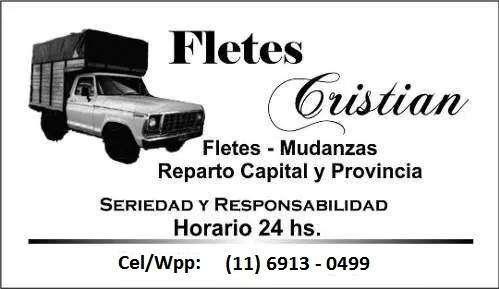 Mudanzas / Fletes - A Buenos Aires y provincia