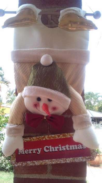 venta de muñecos navideños, hechos a mano