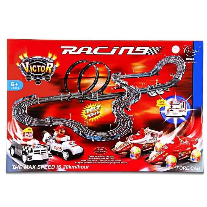 Pista eléctrica de carreras Mario karts nueva infantil