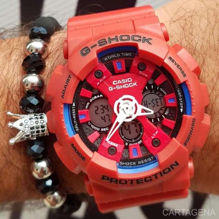 Reloj Casio en color rojo de hombre