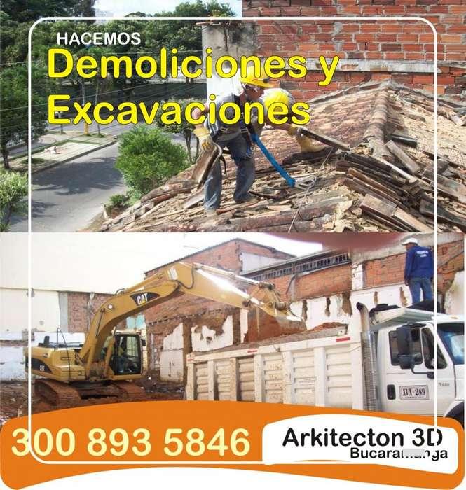 Demolición es y Excavaciones retiro de escombros 3008935846