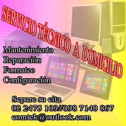 Servicio técnico a domicilio para impresoras, computadoras, laptop's