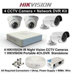 Kit 4 camaras de vigilancia y seguridad Hikvision HD