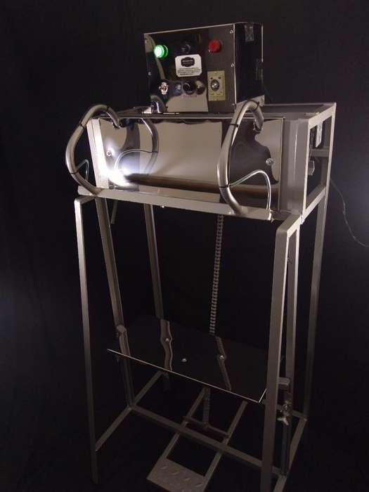 Maquina selladora vertical de bolsas grandes sello plano de impulso sello 6 milímetros.