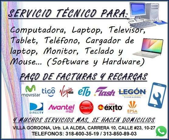 servicio tecnico, computadoras lapto celulares