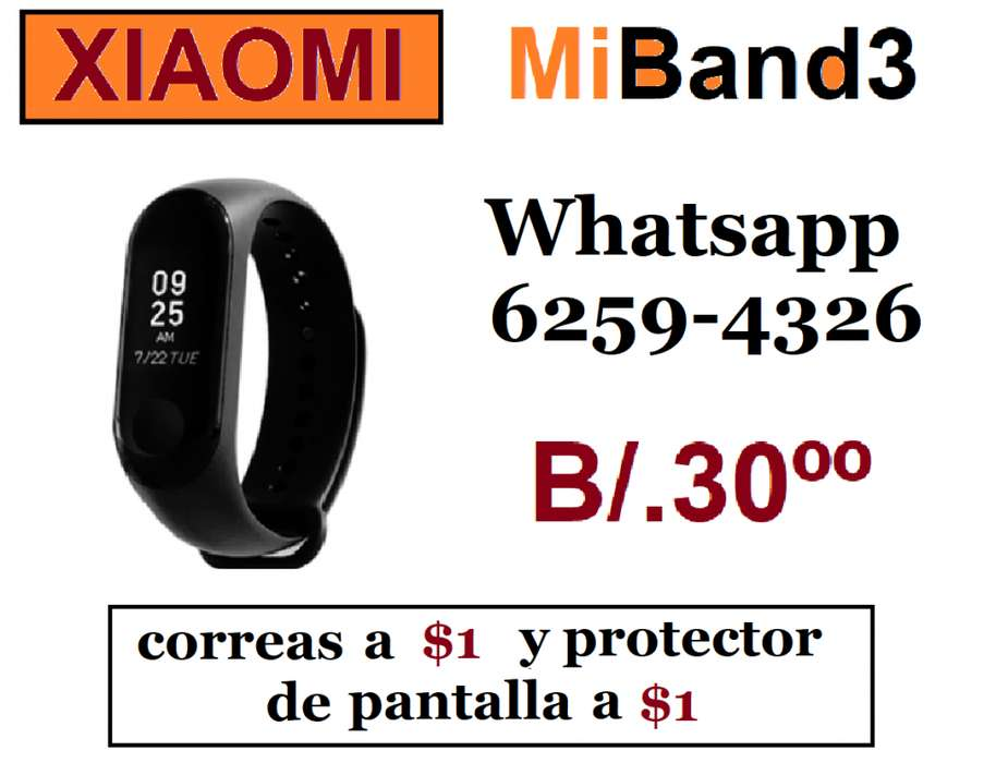 XIAOMI. PULSERA INTELIGENTE. CORREAS A 1. WHATSAPP 62594326.
