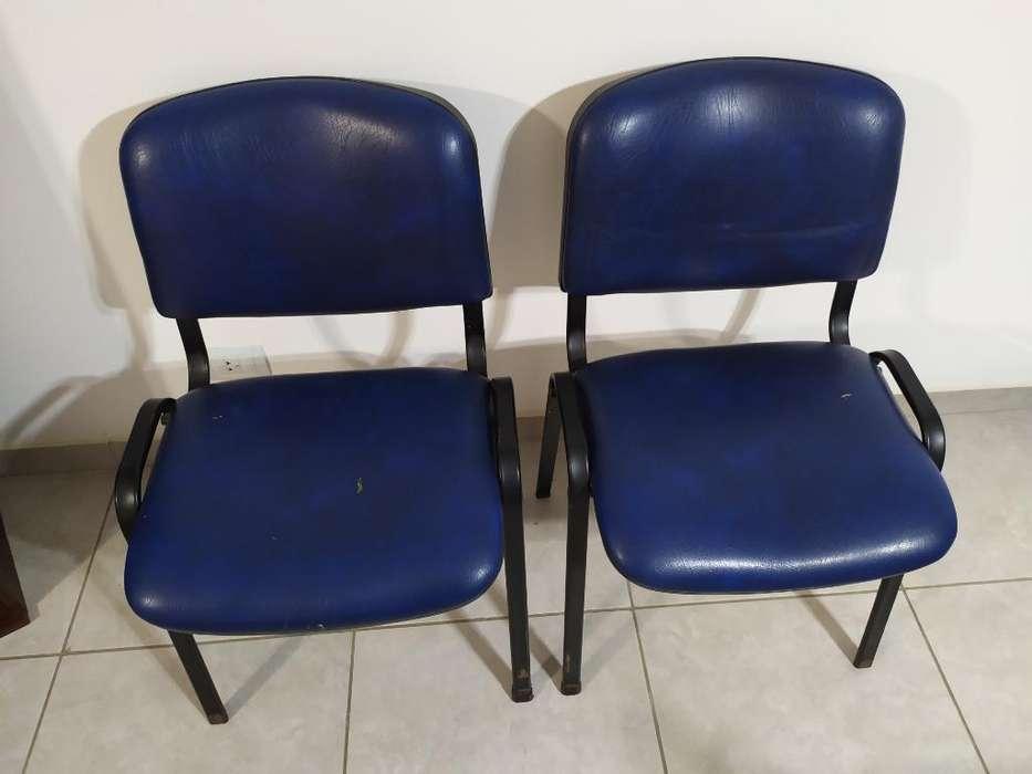 2 <strong>silla</strong>s Apilables Tapizadas Reforzadas