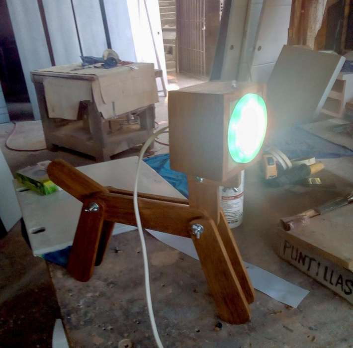 Lámparas LED Perrito de Madera a Control Remoto, Cali - Colombia