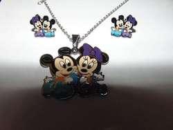 Juego De Joya Mickey and Minnie