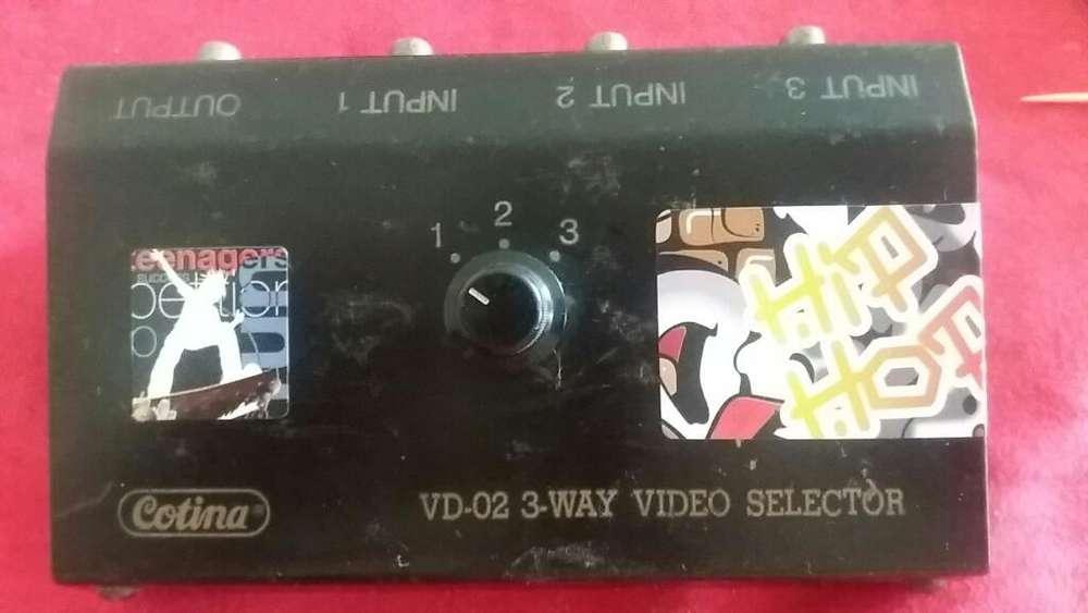 Selector Manual Rca Audio Y Video