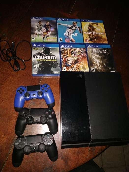 Vendo Playstation 4 500gb O Permuto