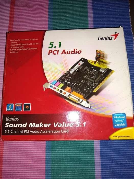 Vendo Tarjeta de Audio Genius 5.1 Pci