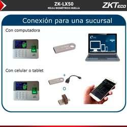 Reloj Biometrico Zk-lx50 Huella Control Acceso Respaldo Usb