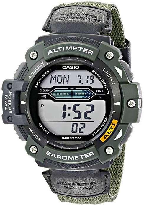 Reloj <strong>casio</strong> Altimetro Barometro y termometro