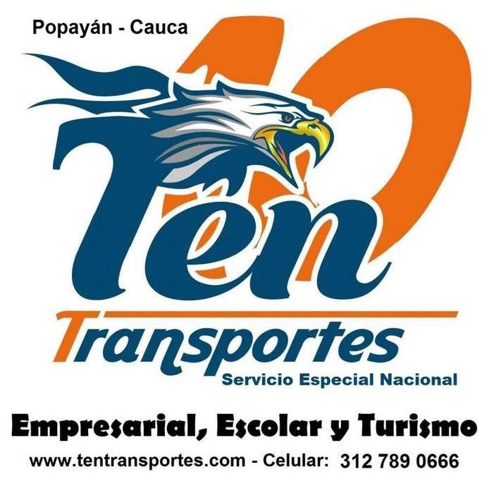 tenemos capacidad transportadora, cupos de transporte especial nacional