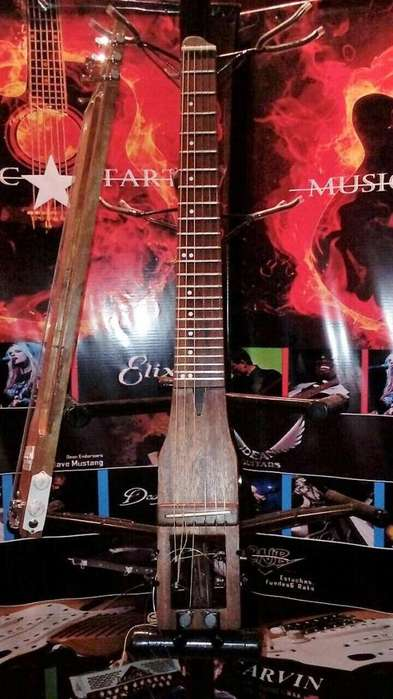 guitarra viajera nylon travel guitar de luthier!!! envios
