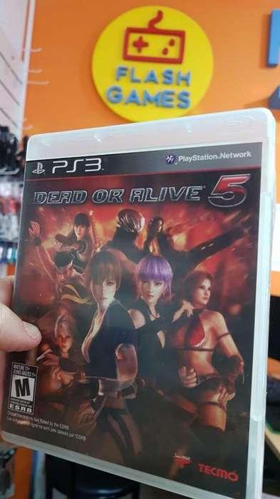 Dead or Alive 5. recibo tarjetas. local céntrico. garantía. juegos play 3 físico usado. ps3