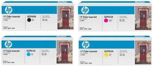 Cartuchos originales para impresora Laser HP 2550 122A 4 Color Set Black, Cyan, Magenta, Yellow