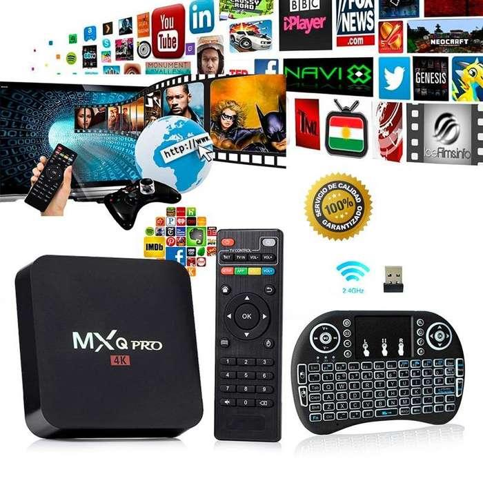 TV BOX ANDROID COMBO MXQ4K MOD V88 4K 1G8G NEGRO