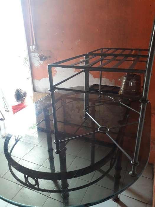 Mesa de Hierro con Vidrio Y <strong>sillas</strong>