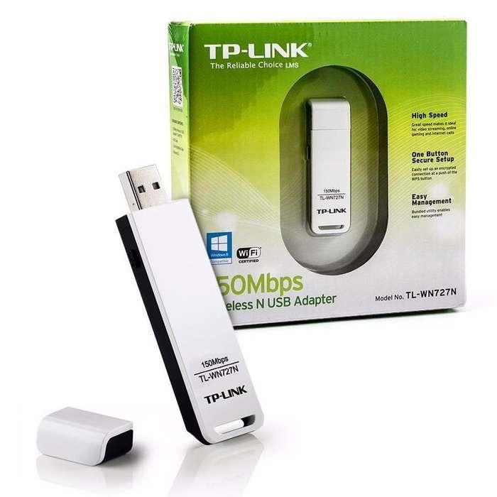 tarjetea usb wifi tplink wn727n incluye wps