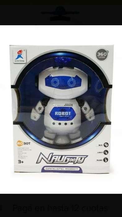 Robot con Luces Led Giratorio 360bailar
