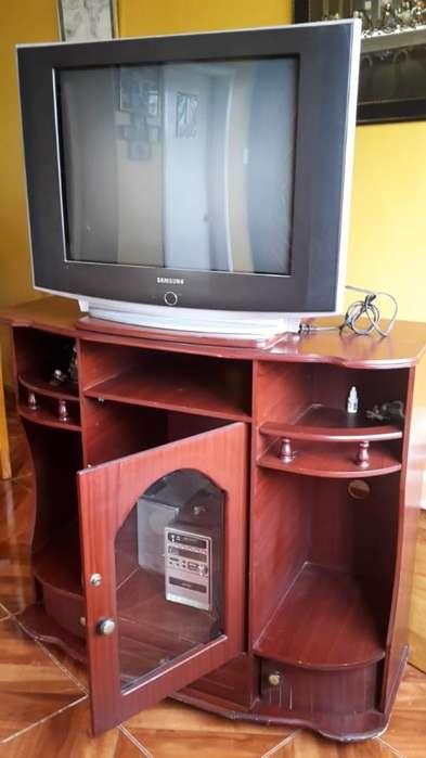 Tv 29 Pulgads Mueble Y Equipo de Audio