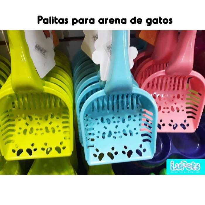 pala recogedor plástico gatos