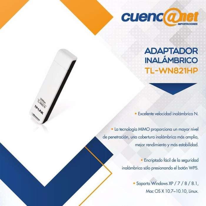 Tplink Tlwn821n Usb Adp Wireless N 300mbps