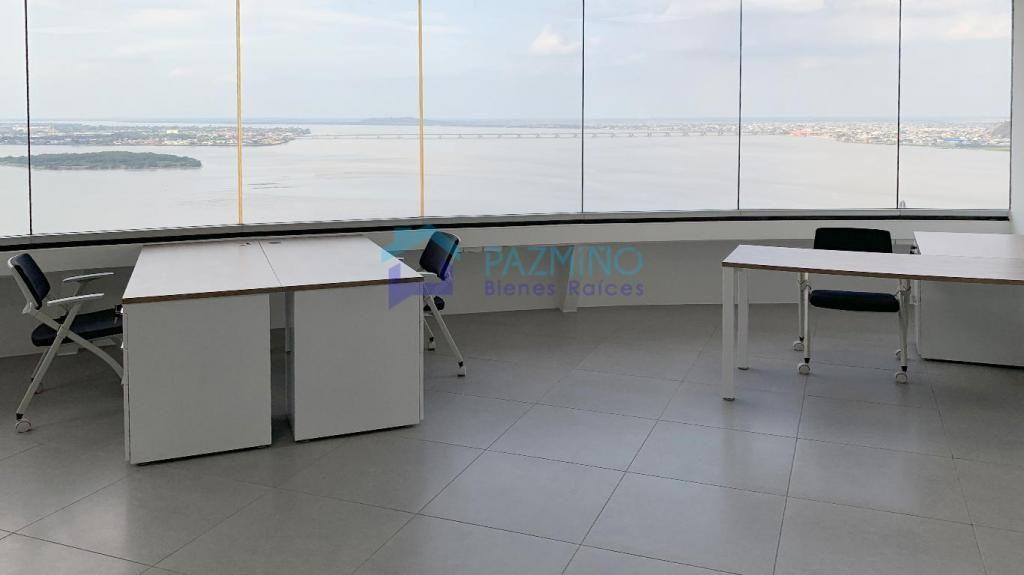 Oficina The Point, Puerto Santa Ana, espectacular vista en piso alto