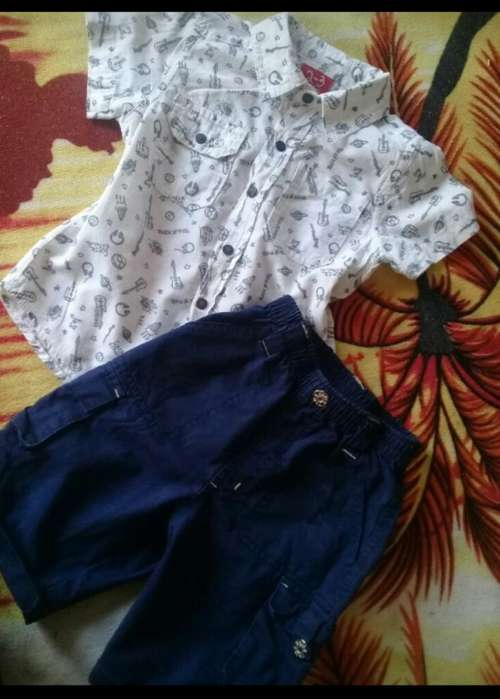 Short Y Camisa Grisino