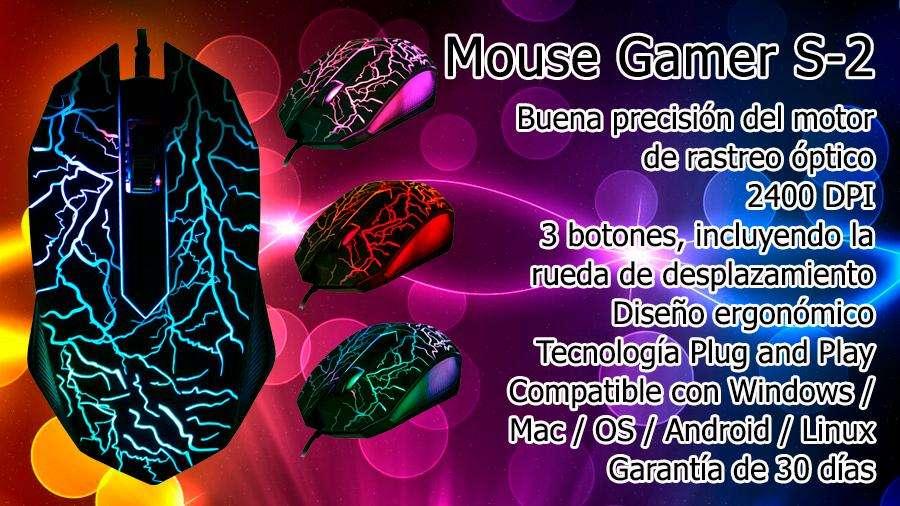 Mouse Gamer S2 Retroiluminado