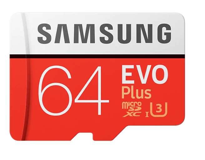 Samsung EVO Plus 64GB Memoria Micro SD U3 100Mbps R/60Mbps W
