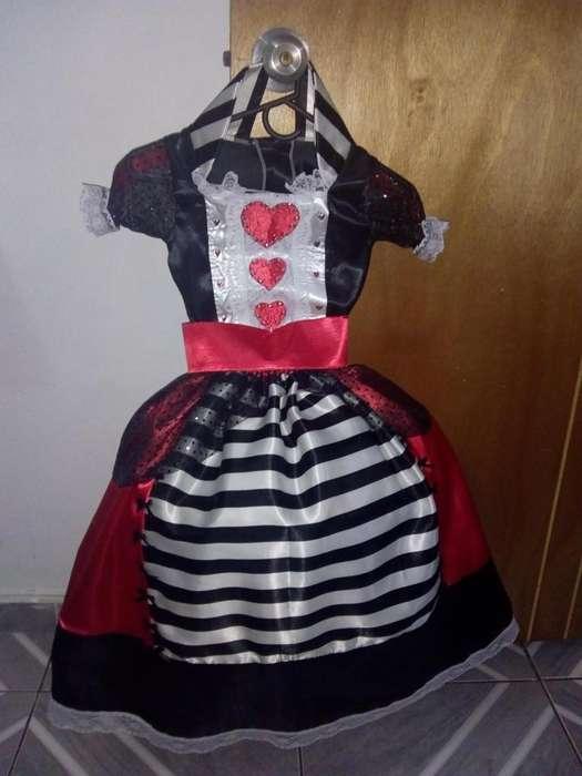 Disfraz Reina de corazones talla 4