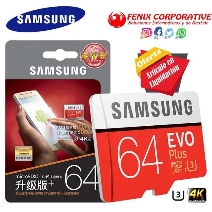 Memoria Micro SD Samsung EVO Plus U3 de 64GB
