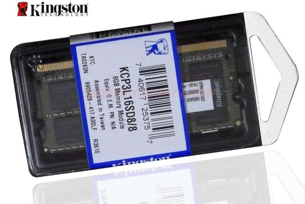 Memoria 8gb Kingston Ddr3 Laptop Kcp3l16sd8/8 Ddr3l Sodimm