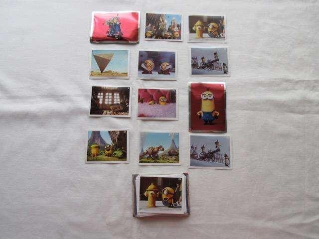 Lote de 72 figuritas de Minions para completar el álbum y pegar donde quieras!!!, impecables!