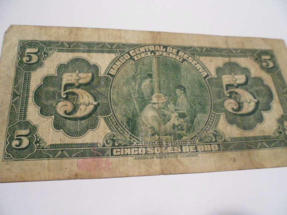 5 soles de oro antiguo billete del 26 de setiembre de 1941